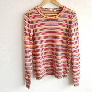 Gap Mini Striped Crew Neck Sweater Wool Blend